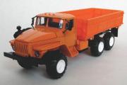 Урал-5557 самосвал сельхозвариант, оранжевый (1/43)