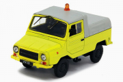 ЛуАЗ-2403 Тягач контейнерных тележек, желтый/серый (1/43)