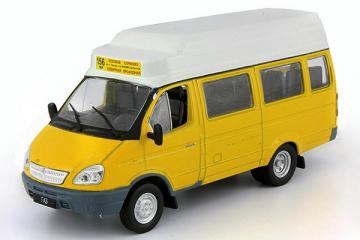 Горький-322131 Газель' Маршрутное такси, желтый (1/43)