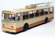 Троллейбус ЗИУ-9, коричневый (1/43)