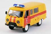 УАЗ-3909 «Аварийная газовая служба», оранжевый/красный (1/43)
