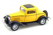 Ford 3 Window Coupe 1932, желтый (1/34)