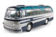 Автобус ЛАЗ-695 пригородный, синий/белый (1/43)