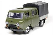 УАЗ-39094 'Фермер' бортовой с тентом, хаки/серый, пластик (1/43)