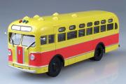 Автобус ЗИС-155 городской, желтый/синий (1/43)