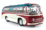 Автобус ЛАЗ-695 пригородный (опытный), бордовый/белый (1/43)