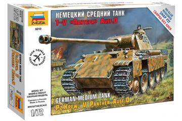 Танк T-V 'Пантера' Ausf.D немецкий. Сборка без клея (1/72)