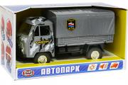 УАЗ-452Д бортовой с тентом 'ОМОН' (свет, звук), серый камуфляж (1/24)