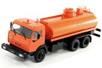 КАМАЗ-53215 Перевозка нефтепродуктов, оранжевый (1/43)