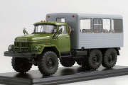 ЗИЛ-131 вахтовый автобус, хаки/серый (1/43)