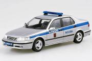 Saab 9-5 Милиция Москва, серебристый/синий (1/43)