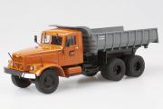 КрАЗ-256Б1 самосвал, оранжевый/серый (1/43)