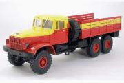 КрАЗ-214Б бортовой аварийный 1963, желтый/красный (1/43)