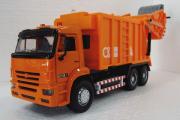 Камаз-65115 мусоровоз (свет, звук), оранжевый (1/38)