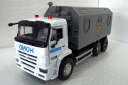 КАМАЗ-65115 кунг Полиция (свет, звук), белый/серый (1/38)