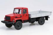 Горький-33081 бортовой, красный/серый (1/43)