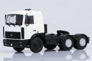 МАЗ-6422 седельный тягач поздний 1989, белый (1/43)