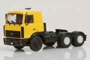 МАЗ-6422 седельный тягач поздний 1989, желтый (1/43)