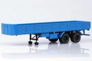 Полуприцеп МАЗ-5205А двухосный, синий (1/43)