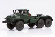 Урал-375С-К1 седельный тягач, темно-зеленый (1/43)