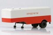 Полуприцеп МАЗ-5217 фургон 'Продукты', красный/серый (1/43)
