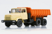 КрАЗ-6510 самосвал 1985, бежевый/оранжевый (1/43)