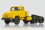 КрАЗ-252 седельный тягач 1979, желтый (1/43)