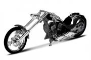 Мотоцикл Chopper Custom black (1/18)