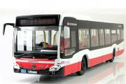 Автобус Mercedes-Benz Citaro 2012, белый/красный (1/43)
