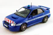 Subaru Impreza Полиция Франции, синяя (1/43)