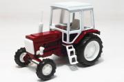 Трактор МТЗ-82 'Беларус' пластик, красный/белый (1/43)