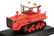 Трактор ДТ-175 'Волгарь' гусеничный 1986, красный (1/43)