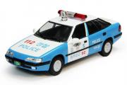 Daewoo Espero S Полиция Южной Кореи 2000, белый/голубой (1/43)