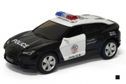 Lamborghini Urus Police, черный/белый (1/38)
