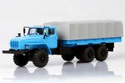 Урал-4320-0911 бортовой с тентом, голубой/серый (1/43)