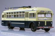Троллейбус МТБ-82Д, бежевый/синий (1/43)