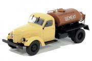 КАЗ-601 цементовоз, бежевый/коричневый. Уценен (1/43)