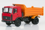 МАЗ-55514023 самосвал 1997, красный/оранжевый (1/43)