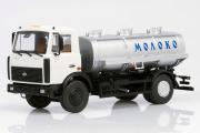 МАЗ-5337 АЦИП-7,7 цистерна 'Молоко', белый/серебристый (1/43)