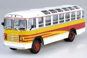 Автобус ЗИЛ-158А Экскурсионный, белый/желтый (1/43)