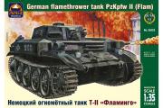 Танк немецкий огнеметный T-II 'Фламинго' (1/35)