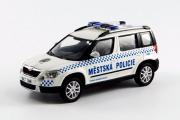 Skoda Yeti полиция Чехии 2015, белый/синий (1/43)
