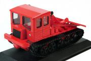 Трактор ТДТ-60 гусеничный 1957, красный (1/43)