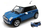 Mini Cooper, синий/белый (1/18)