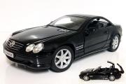 Mercedes-Benz SL500 кабриолет (крыша откидывается), черный (1/18)