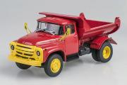 ЗИЛ-ММЗ-555 самосвал (ранний) Автоэкспорт 1974, красный/желтый (1/43)