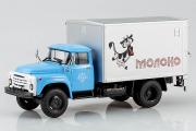 ЗИЛ-130 фургон 'Молоко' с подъемным задним бортом У-165, синий/серебристый (1/43)
