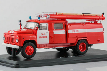 АЦ-30 (53А)-106А, ПЧ-10 Спасское, красный/белый (1/43)