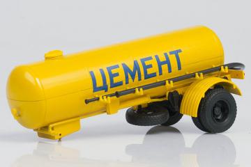 Полуприцеп-цементовоз ТЦ-4, желтый (1/43)