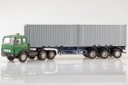 МАЗ-6422 седельный тягач + полуприцеп МАЗ-938920, зеленый/серый (1/43)